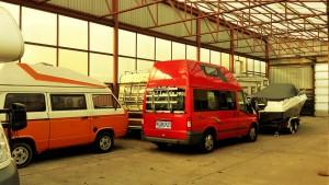 Winterlager Wohnmobil, Wohnwagen, Boot in einer Halle
