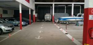 Innenansicht Hallenstellplatz Reisemobil Hunsrück